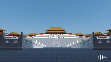 Central Axis of Beijing Imperial City (Qing Dynasty) Minecraft Map & Project