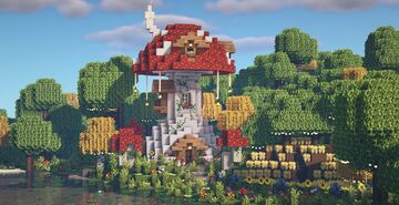 Mushroom fairy sanctuary 🌿🍄🧚♀️ Minecraft Map & Project