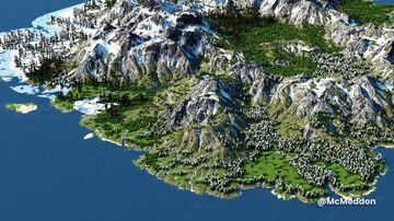 Otrelia - The flipped valley - April Fools Map(2k, Download, 1.12 & 1.16+, Java & Bedrock, Realistic Minecraft Survival World ) Minecraft Map & Project