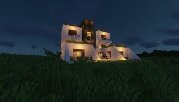 Terrace Modern House Minecraft Map & Project