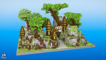 HCF Spawn + Road - VILLAGE Theme Minecraft Map & Project