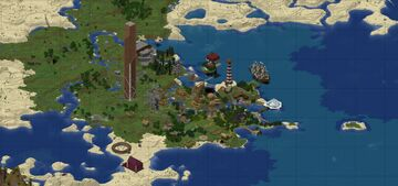 Survival Town Wood Minecraft Map & Project
