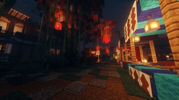 Japanese Hotel and Town Minecraft Map & Project