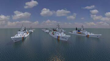 Coast guard Heavy Patrol Vessel Fleet Minecraft Map & Project