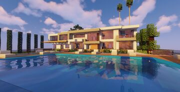 Modern Mansion #4 (Map + Schematic) Minecraft Map & Project