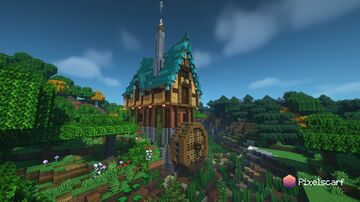 Fantasy Watermill House [Download] Minecraft Map & Project