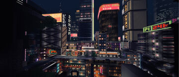 Neon city Minecraft Map & Project