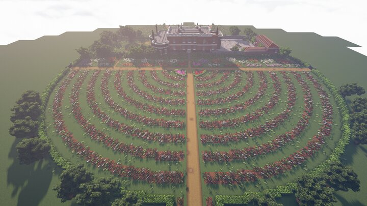 Aerial view of the Rose Garden