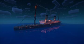 RMS Qubicanic Sinking Minecraft Map & Project