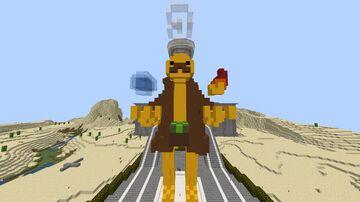 "Mini_Potato statue ""holding"" the elements Minecraft Map & Project"