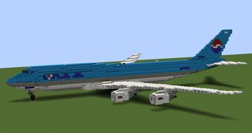 Korean Air Boeing 747-8B5 (1000th download special) Minecraft Map & Project