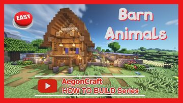Minecraft ✨ How to Build a Barn Animals ✨ Builds in Survival a Stable ❤️ Minecraft Map & Project