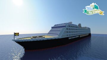 Yamada Cruises The Crystal – Minecraft Cruise Ship Project (With Interior & download) Minecraft Map & Project