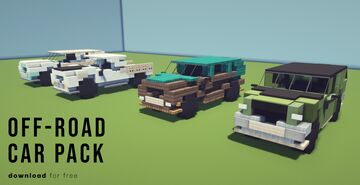 Off-road Vehicle Pack | Krysot | download for free Minecraft Map & Project