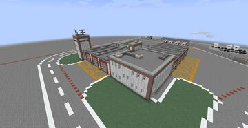 Airport Build #1 | Fire Station 1 Minecraft Map & Project