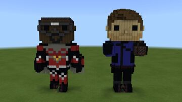 The Falcon and The Winter Soldier Funko Pops! Minecraft Map & Project