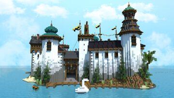1.17 survival island castle | Krysot | schematic download Minecraft Map & Project