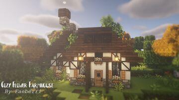 Cozy Flower Farmhouse (Fern Flowers Farm) Minecraft Map & Project