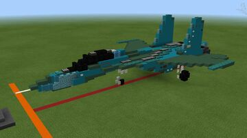 SU-27SK Flanker Minecraft Map & Project