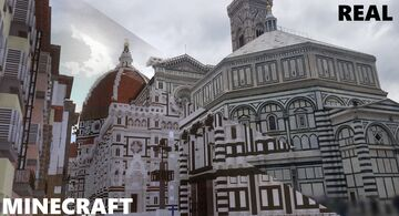 ⚜️Florence-Project⚜️ - Comparison Minecraft-Reality Minecraft Map & Project
