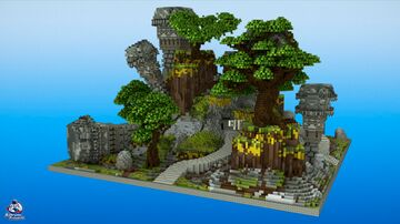 HCF Spawn + Road - MEDIEVAL Theme Minecraft Map & Project