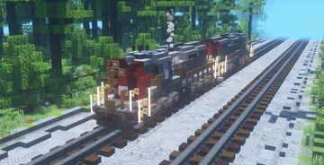 Southern Pacific EMD SD9 Minecraft Map & Project