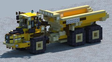 Volvo A25C, Articulated dump truck [With Download] Minecraft Map & Project
