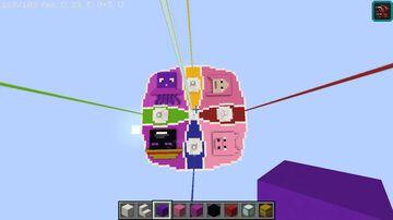 Carrera de LuckyBlocks Minecraft Map & Project