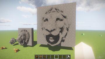 Lion head Little tiles Minecraft Map & Project