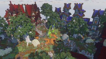 Four gates Spawn castle Minecraft Map & Project