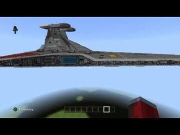 Star Wars 1/2 scale Venator Class Minecraft Map & Project