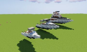 Yacht 1, 2 and 3 Minecraft Map & Project