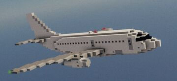 Boeing 737-100 1.5:1 Scale Minecraft Map & Project