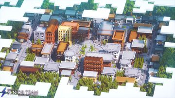 Town Square Hub Minecraft Map & Project