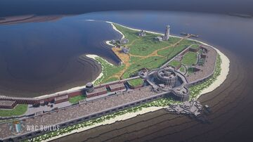 Hurst Castle - Tudor  & Victorian Costal Fort Minecraft Map & Project
