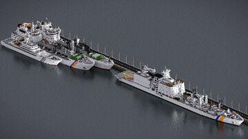 Coastguard Supply ship VT-25000 Minecraft Map & Project
