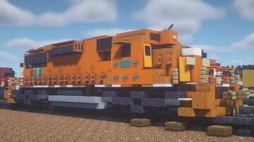 """Canadian National - EMD SD38 """"EJ & E Leased Power"""" Minecraft Map & Project"""