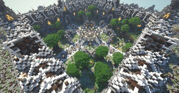 Free Download Medieval & Nature Minecraft Faction Spawn Minecraft Map & Project