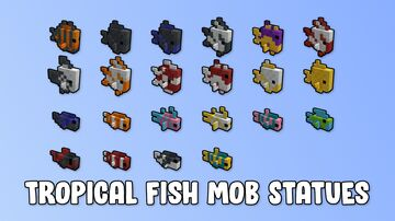 Tropical Fish Mob Statues (3072 of them!!!) Minecraft Map & Project