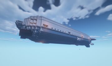 Movecraft Air Warship - Sovereign (Behemoth Refit) Minecraft Map & Project