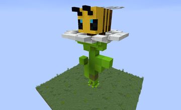 Bee on a Daisy House Minecraft Map & Project