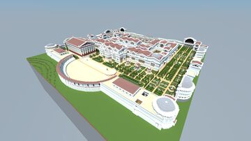 Roman Imperial Baths of Diocletian Minecraft Map & Project