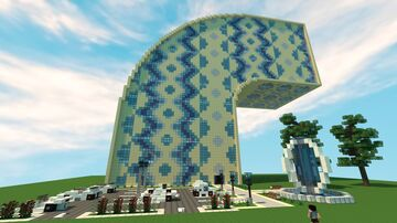 Curved Apartments and Office Minecraft Map & Project