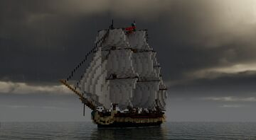 The Inconocible - Imperial Frigate [Records of Sailors] Minecraft Map & Project