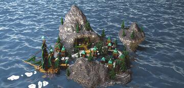 Island Based on World of Warcraft's Kul'Tiras Minecraft Map & Project