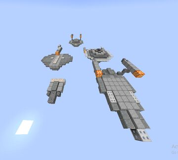 Star Trek Mini Starships Minecraft Map & Project