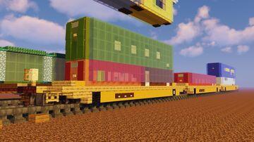 Rolling Stock - Maxi Well Car, CSX Garbage Container Flatcar, Bulkhead Flatcar Minecraft Map & Project