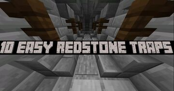 10 Easy Redstone Traps Minecraft Map & Project