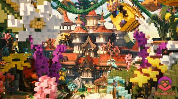 Bee Island ❯ Hub ❯ 250x200 Minecraft Map & Project