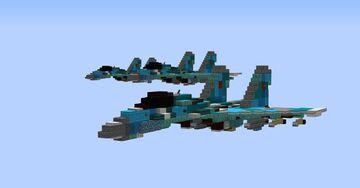 Sukhoi Su-35 1.5:1 scale Minecraft Map & Project